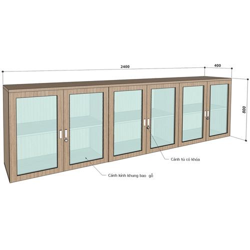 Tủ treo ARW2400-6K văn phòng cao cấp