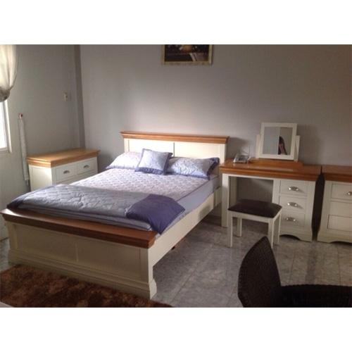 Set bộ giường ngủ trắng